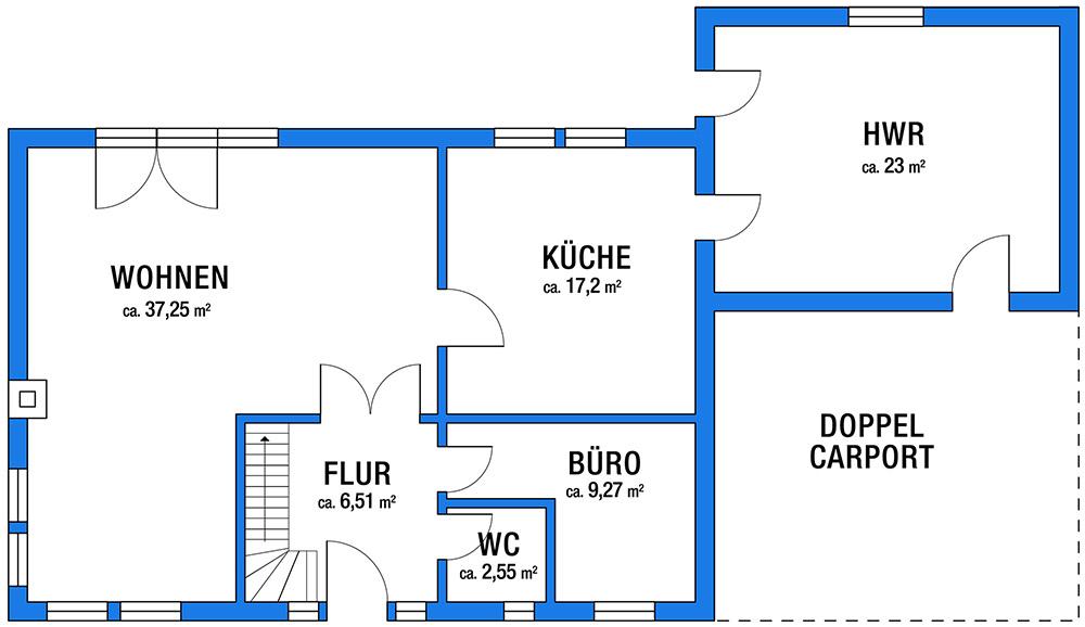Einfamilienhaus in Asendorf Erdgeschoss