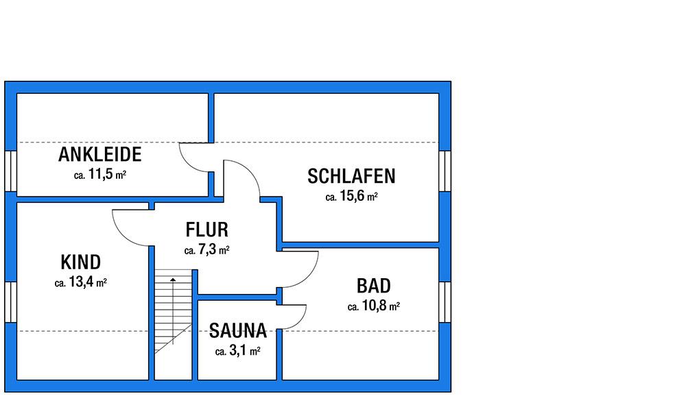 Einfamilienhaus in Asendorf Obergeschoss